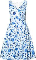 Oscar de la Renta sleeveless V-neck dress - women - Cotton/Spandex/Elastane - 10