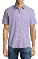 Zachary Prell Manning Pin-Dot Short-Sleeve Sport Shirt, Pink