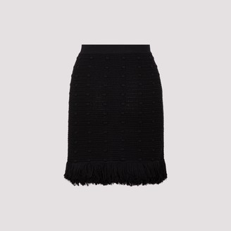 Bottega Veneta Knitted Fringed Mini Skirt