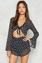 Nasty Gal nastygal Got That Star Power Tie Front Romper