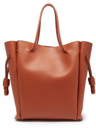 Loewe Flamenco Medium Leather Tote Bag - Womens - Brown