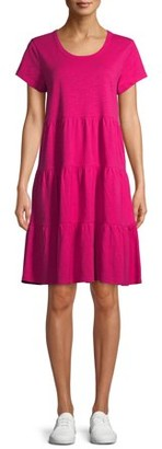 Time and Tru Women's Tiered Knit Dress
