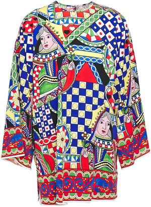 Dolce & Gabbana Printed Stretch-silk Satin Tunic