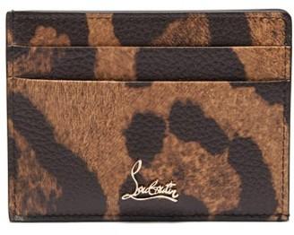 Christian Louboutin Kios Leopard-print Leather Cardholder - Leopard