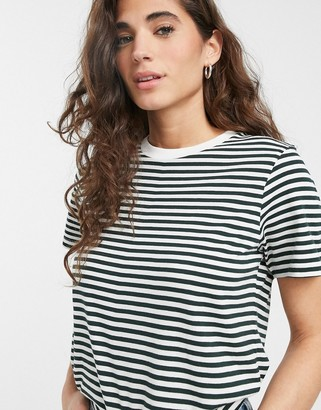 Selected Perfect stripe short sleeve t-shirt