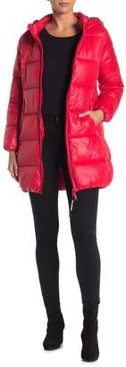 Juicy Couture Packable Water Repellent Hooded Long Puffer Jacket