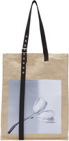 Raf Simons Beige Robert Mapplethorpe Edition Extreme Big Tulips Tote
