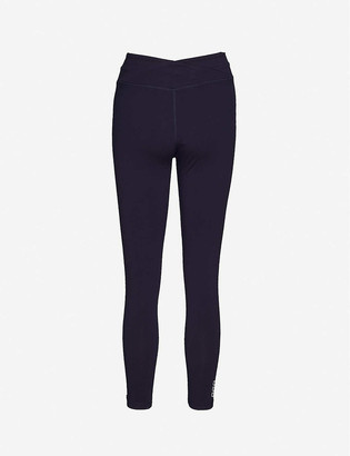 Lorna Jane Wrap waistband mid-rise stretch-woven leggings