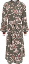 Joie Belted Floral-print Crepe De Chine Dress