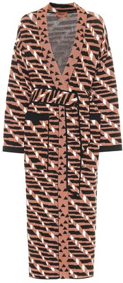 Missoni Wool-blend jacquard longline cardigan