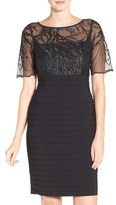 Adrianna Papell Women's Embroidered Pleat Sheath Dress
