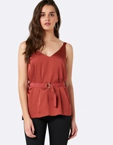 Forever New Tamsin Top Stitching and Belt Cami