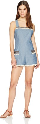 MinkPink Women's Lost & Found Chambray Playsuit