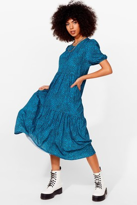 Nasty Gal Womens Acting All Spotty Tiered Maxi Dress - Teal