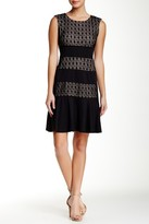London Times T1505M Sleeveless Paneled Lace Dress