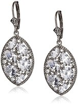 Nina Aquila East West Marquise Cubic Zirconia Cluster Drop Earrings
