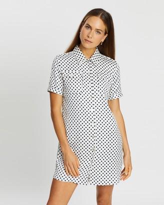ALEXACHUNG Shirt Dress