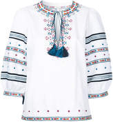 Talitha Zoya embroidered peasant blouse