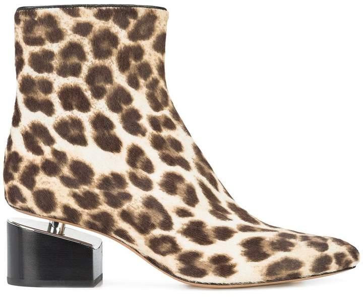 Alexander Wang Jude leopard bootie boots