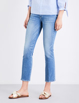 Paige Jocelyn flared cropped mid-rise jeans