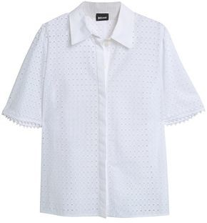 Just Cavalli Broderie Anglaise Cotton Shirt