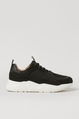 H&M Chunky Leather Sneakers - Black