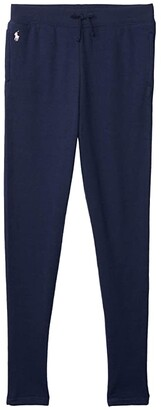 Polo Ralph Lauren Kids French Terry Leggings (Big Kids) (French Navy) Girl's Casual Pants