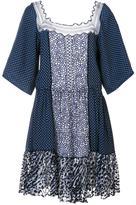 Chloé polka dot lace insert dress - women - Cotton/Nylon/Viscose - 38