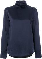 Cédric Charlier high neck blouse - women - Acetate/Viscose - 42