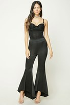 Forever 21 FOREVER 21+ High-Low Flared Satin Pants
