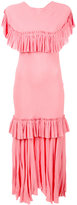 Marni crinkled tiered ruffled dress