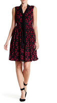 Adrianna Papell Two-Tone Lace Fit & Flare Dress
