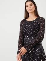 Very Mixed Print Midi Dress - Print