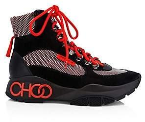 5772962f5be2 Jimmy Choo Women's Inca Patchwork Platform Hiking Boots