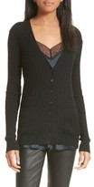Vince Women's Skinny Ribbed Cashmere Cardigan