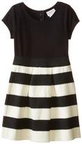 Us Angels Ponte Novelty Elastic Cap Sleeve w/ Full Skirt (Big Kids)