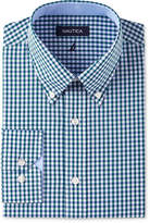 Nautica Men's Fitted Green Gingham Dress Shirt