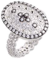 Freida Rothman Pave Cubic Zirconia Clover Ring