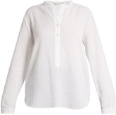 Stella McCartney Collarless cotton-cheesecloth shirt