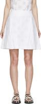 Kenzo White Pleated Polka Dot Skirt
