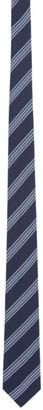 Salvatore Ferragamo Navy Striped Tie