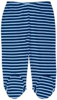 Jo-Jo JoJo Maman Bebe 2 Pack Footed Leggings (Baby) - Navy/Blue Stripe-0-3 Months