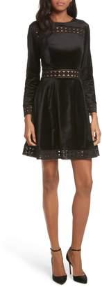 Ted Baker Velvet & Lace Skater Dress