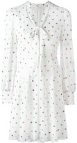 Marc Jacobs neck tie glitter dress - women - Silk/Polyester - 4