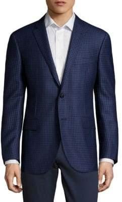 Corneliani Check Wool Suit Jacket
