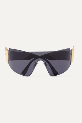 Fendi Oversized D-frame Metal Sunglasses - Black