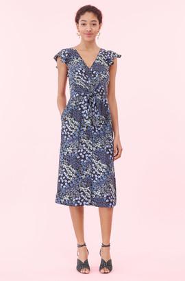 Rebecca Taylor Ava Floral Tie Waist Dress