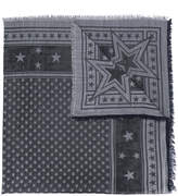 Givenchy stars embroidered scarf