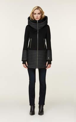 Soia & Kyo AVERY mixed media coat with hood