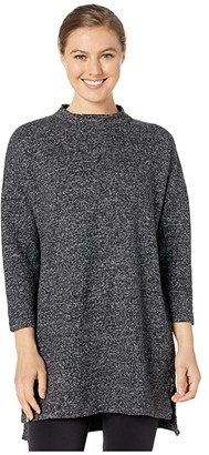 tentree Carmanah Long Sleeve Tunic (Meteorite Black) Women's Sweater
